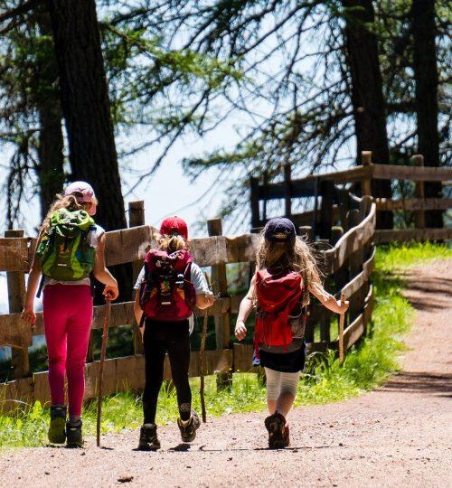children, girl, hiking